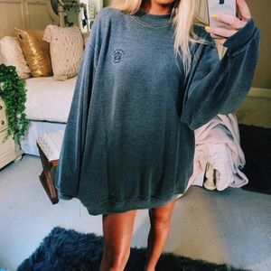 charcoal stonewashed pullover
